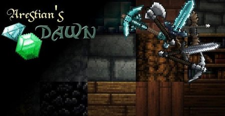 Скачать The Arestian's Dawn RPG Styled для minecraft 1.8.1