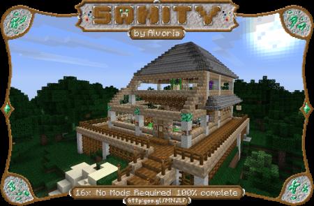 Скачать Sanity [16x] для Minecraft