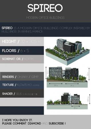 Скачать Spireo   Modern Office Buidings Complex для Minecraft