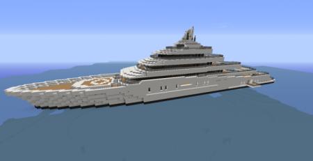 Скачать Lunar   Modern Yacht для Minecraft