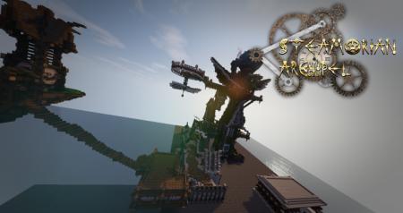 Скачать Almekara - The Steampunk Island для Minecraft