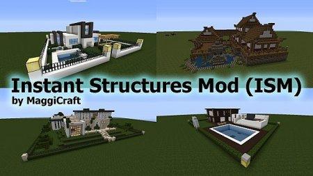 Скачать Instant Structures для Minecraft 1.10.2