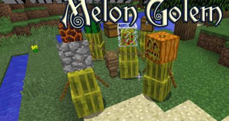 Скачать Melon Golem для Minecraft 1.16