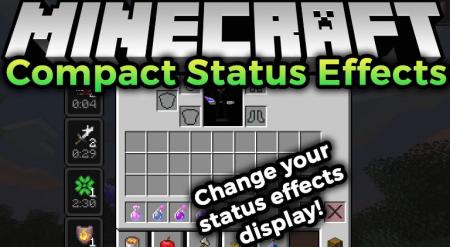Скачать Compact Status Effects для Minecraft 1.16.2