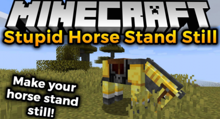 Скачать Stupid Horse Stand Still для Minecraft 1.16.2