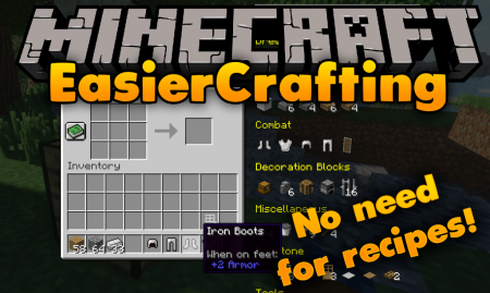 Скачать Easier Crafting для Minecraft 1.16.2