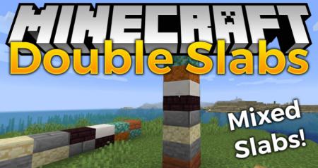 Скачать Double Slabs для Minecraft 1.14.4