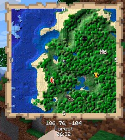 Скачать Just Map для Minecraft 1.16