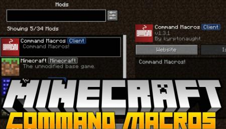Скачать Command Macros для Minecraft 1.16.2