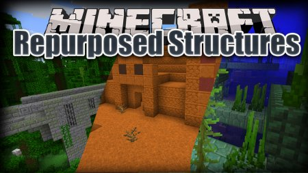 Скачать Repurposed Structures для Minecraft 1.16.2