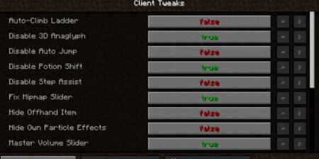 Скачать Client Tweaks для Minecraft 1.16.2