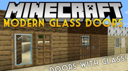 Скачать Modern Glass Doors для Minecraft 1.16.2