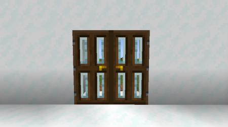 Скачать Modern Glass Doors для Minecraft 1.16.3