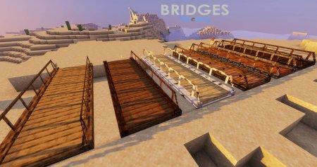 Скачать Macaw's Bridges для Minecraft 1.16.2