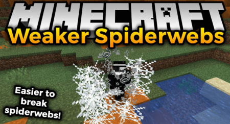 Скачать Weaker Spiderwebs для Minecraft 1.16.3