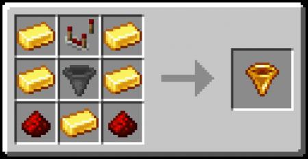 Скачать Golden Hopper для Minecraft 1.16.2