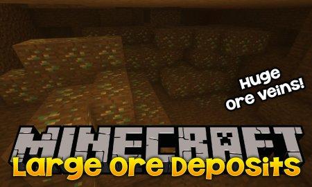 Скачать Large Ore Deposits для Minecraft 1.16.2