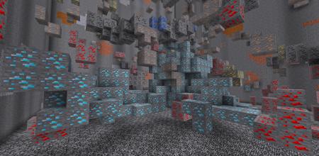 Скачать Large Ore Deposits для Minecraft 1.16.3