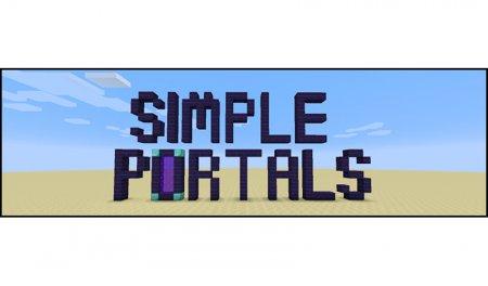 Скачать Simple Portals для Minecraft 1.15.2