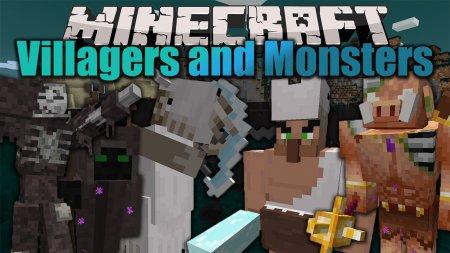 Скачать Villagers and Monsters для Minecraft 1.15.2