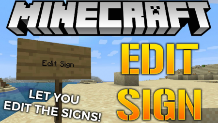 Скачать Edit Sign для Minecraft 1.16.3