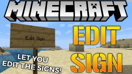 Скачать Edit Sign для Minecraft 1.16.4
