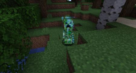 Скачать Naturally Charged Creepers для Minecraft 1.16