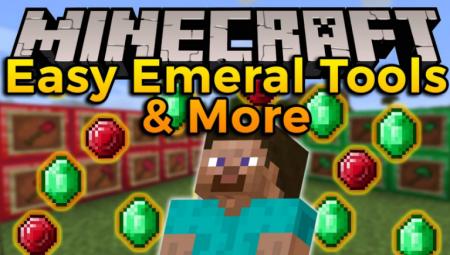 Скачать Easy Emerald Tools & More для Minecraft 1.16.4
