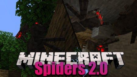 Скачать Spiders 2.0 для Minecraft 1.16.2