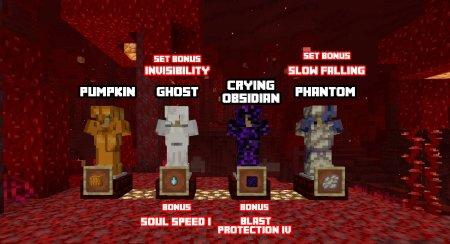 Скачать Extra Armor для Minecraft 1.16.4