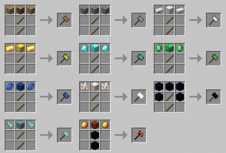 Скачать Vanilla Hammers для Minecraft 1.16.4