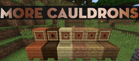 Скачать More Cauldrons для Minecraft 1.16.4