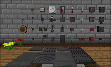 Скачать Redstone Gauges and Switches для Minecraft 1.16.4
