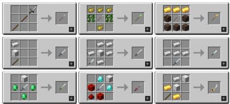 Скачать MC Dungeons Weapons для Minecraft 1.16.1