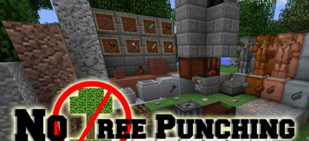 Скачать No Tree Punching для Minecraft 1.16.3
