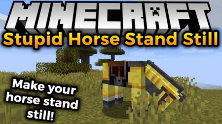 Скачать Stupid Horse Stand Still для Minecraft 1.16.5