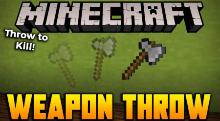 Скачать Weapon Throw для Minecraft 1.15.1