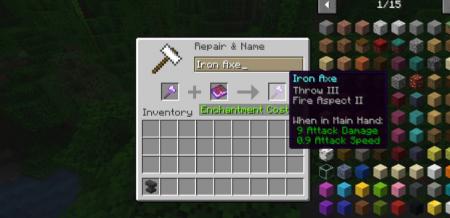 Скачать Weapon Throw для Minecraft 1.16.5