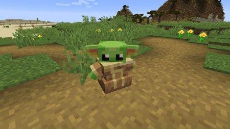 Скачать Baby Yoda для Minecraft 1.15