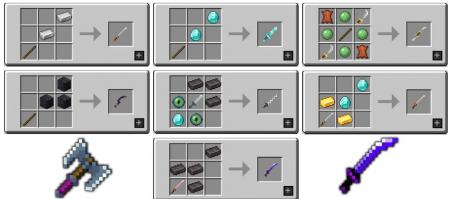 Скачать MC Dungeons Weapons для Minecraft 1.15.1