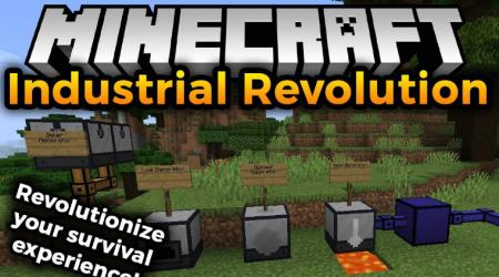 Скачать Industrial Revolution для Minecraft 1.16.4