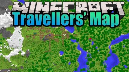 Скачать Travellers' Map для Minecraft 1.16.5