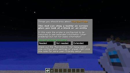 Скачать The One Probe для Minecraft 1.16.4