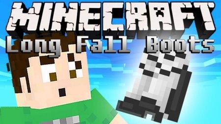 Скачать Long Fall Boots для Minecraft 1.16.2