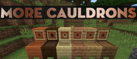 Скачать More Cauldrons для Minecraft 1.16.5
