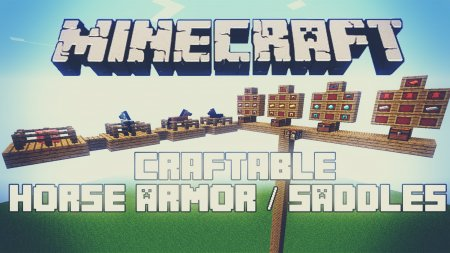 Скачать Craftable Horse Armour and Saddle для Minecraft 1.16.4