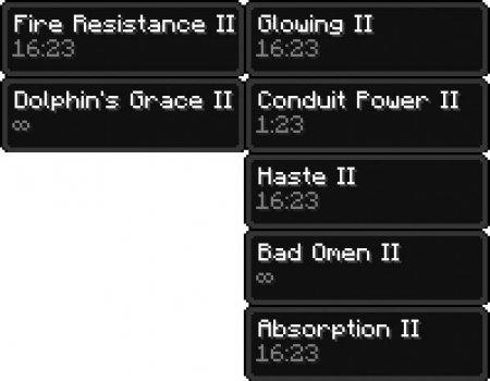 Скачать Compact Status Effects для Minecraft 1.16.4