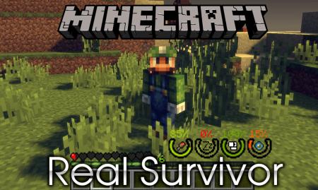 Скачать Real Survivor для Minecraft 1.14.4