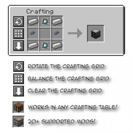Скачать Crafting Tweaks для Minecraft 1.16.4