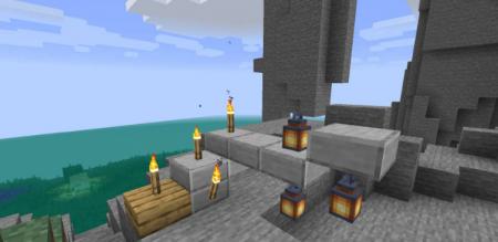 Скачать Torch Slabs для Minecraft 1.16.5